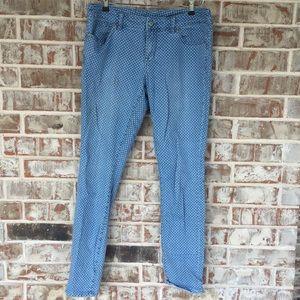 Limited Polka Dot Stretch Light Blue Skinny Jeans